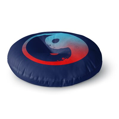 Federic Levy-Hadida Ying Yang Surfers Round Floor Pillow Size: 23 x 23