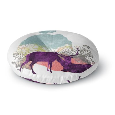 Frederic Levy-Hadida Tenderness Round Floor Pillow Size: 26 x 26