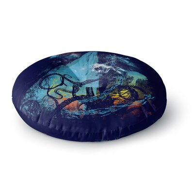 Frederic Levy-Hadida Danger from the Deep Underwater Round Floor Pillow Size: 26 x 26