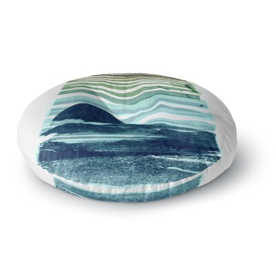 Frederic Levy-Hadida Sea Scape Stripes Round Floor Pillow Size: 23 x 23