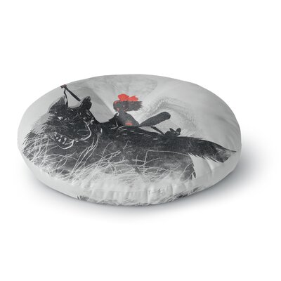 Frederic Levy-Hadida Princess Monokiki Fantasy Illustration Round Floor Pillow Size: 23 x 23