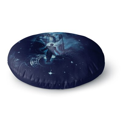 Frederic Levy-Hadida Time Traveler Fantasy Round Floor Pillow Size: 23 x 23