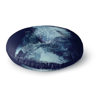 Frederic Levy-Hadida Forest Spirit Rising Fantasy Round Floor Pillow Size: 26 x 26