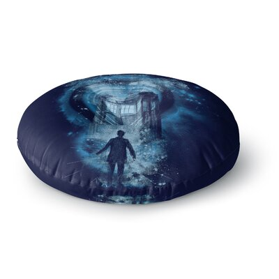 Frederic Levy-Hadida Master of Ceremony Round Floor Pillow Size: 23 x 23