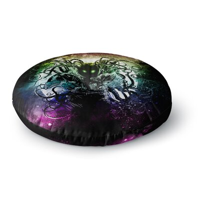Frederic Levy-Hadida Terror From Deep Space Round Floor Pillow Size: 26 x 26