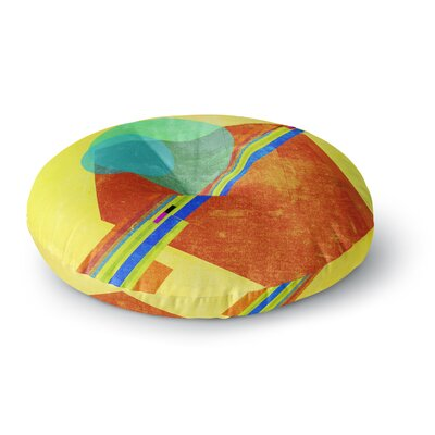 Frederic Levy-Hadida Landing Media Geometric Round Floor Pillow Size: 26 x 26