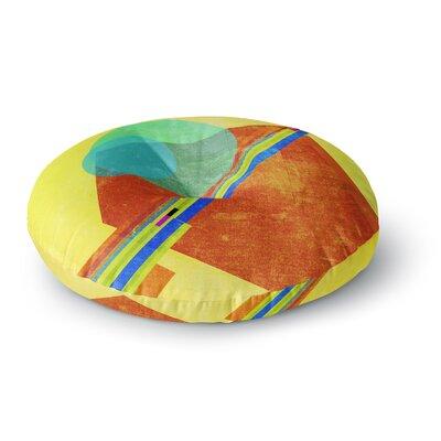 Frederic Levy-Hadida Landing Media Geometric Round Floor Pillow Size: 23 x 23