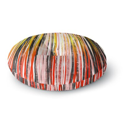 Frederic Levy-Hadida Stripes Olive Illustration Round Floor Pillow Size: 26 x 26