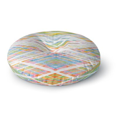 Frederic Levy-Hadida Losanges 2 Digital Round Floor Pillow Size: 23 x 23