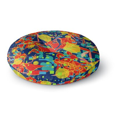 Frederic Levy-Hadida Foliage Folie 2 Digital Round Floor Pillow Size: 26 x 26