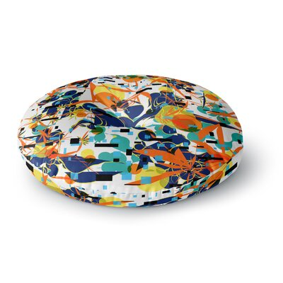 Frederic Levy-Hadida Foliage Folie 1 Digital Round Floor Pillow Size: 26 x 26