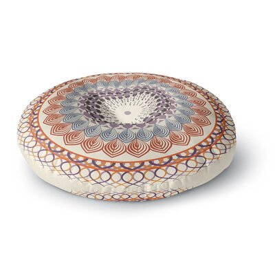 Famenxt Vintage Mandala Round Floor Pillow Size: 23 x 23