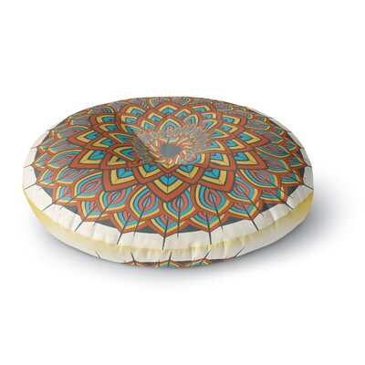 Famenxt Floral Mandala Geometric Round Floor Pillow Size: 26 x 26