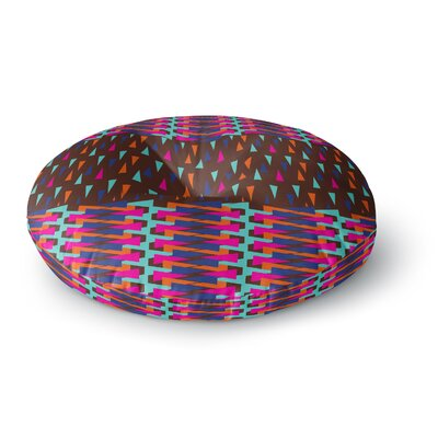 Famenxt Abstract Triangle Pattern Round Floor Pillow Size: 26 x 26