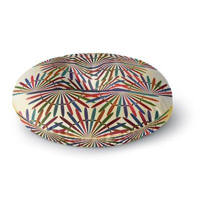 Famenxt Colorful Abstract Pattern Round Floor Pillow Size: 23 x 23
