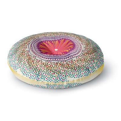Famenxt Confetti Dots Mandala Abstract Round Floor Pillow Size: 26 x 26