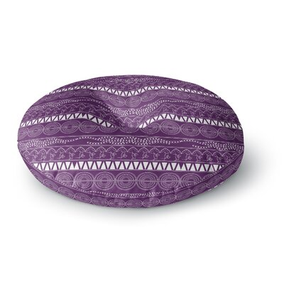 Famenxt Pattern Abstract Round Floor Pillow Size: 26 x 26