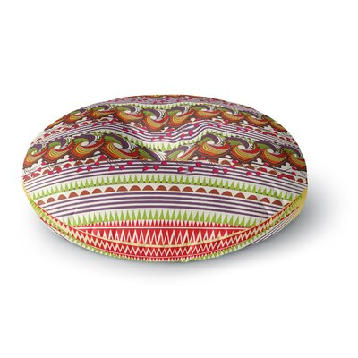 Famenxt Colorful Traditional Pattern Digital Round Floor Pillow Size: 23 x 23