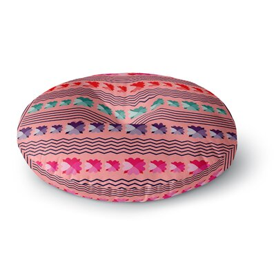Famenxt Romantic Love Pattern Abstract Round Floor Pillow Size: 26 x 26, Color: Pink