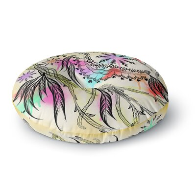Famenxt Birds World Round Floor Pillow Size: 26 x 26