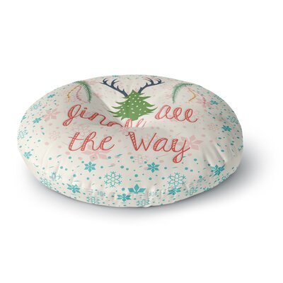 Famenxt Jingle All the Way Holiday Digital Round Floor Pillow Size: 26 x 26