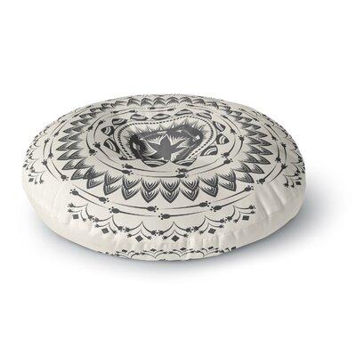 Famenxt Boho Tribe Mandala Round Floor Pillow Size: 23 x 23