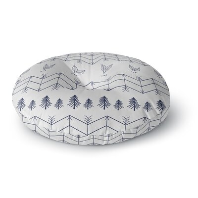 Famenxt Tribal Night Arrows Jungle Digital Round Floor Pillow Size: 26 x 26, Color: White