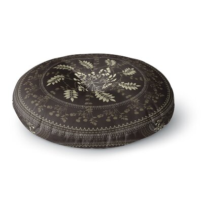 Famenxt Magical Vibes Boho Madellion Pattern Round Floor Pillow Size: 26 x 26, Color: Brown/Beige