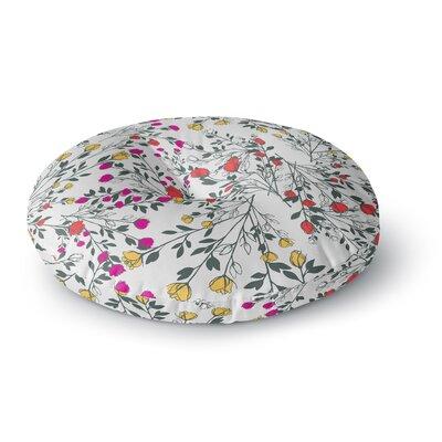 Famenxt Rose Blossom Garden Floral Round Floor Pillow Size: 26 x 26