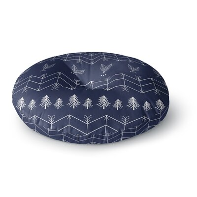Famenxt Tribal Night Arrows Jungle Digital Round Floor Pillow Size: 23 x 23, Color: Blue
