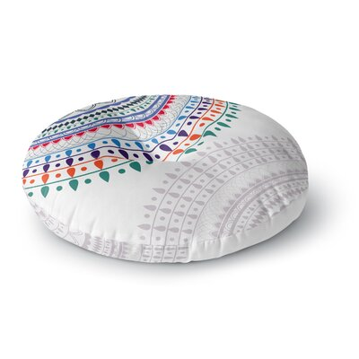 Famenxt Tribes Vibes Mandala Pattern Round Floor Pillow Size: 23 x 23