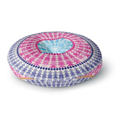 Famenxt Mandala Illustration Round Floor Pillow Size: 26 x 26