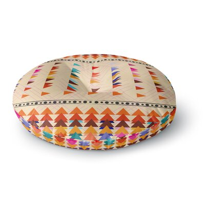 Famenxt Bohemian Triangle Pattern Illustration Round Floor Pillow Size: 23 x 23