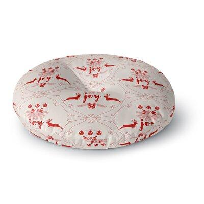 Famenxt Christmas Joy Pattern Digital Round Floor Pillow Size: 26 x 26