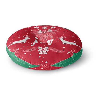 Famenxt Christmas Joy Digital Round Floor Pillow Size: 23 x 23