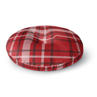 Famenxt Plaid Digital Round Floor Pillow Size: 23 x 23