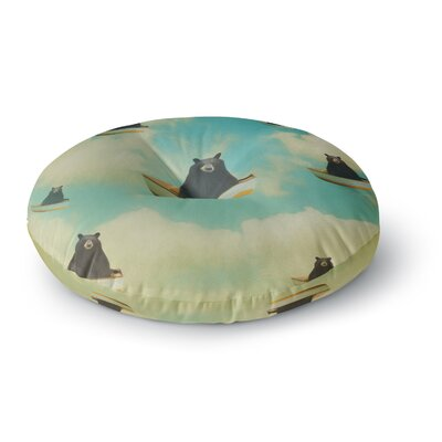 Natt Bears Floating Animals Round Floor Pillow Size: 26 x 26