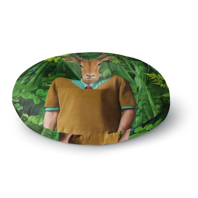 Natt Into the Leaves N4 Antelope Round Floor Pillow Size: 26 x 26