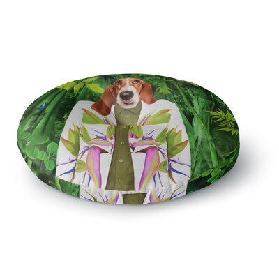 Natt Into the Leaves N5 Dog Round Floor Pillow Size: 23 x 23