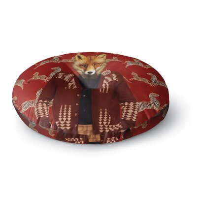 Natt Family Portrait N1 Fox Round Floor Pillow Size: 26 x 26