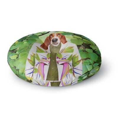 Natt Into the Leaves N6 Dog Round Floor Pillow Size: 26 x 26