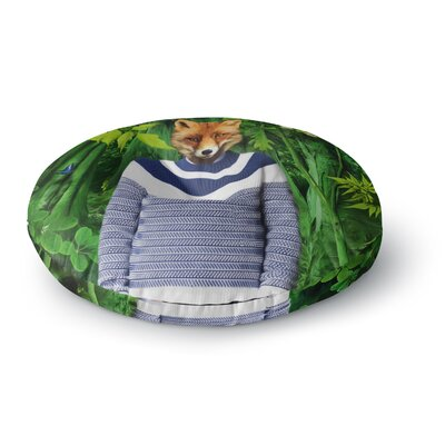 Natt Into the Leaves N7 Fox Round Floor Pillow Size: 23 x 23