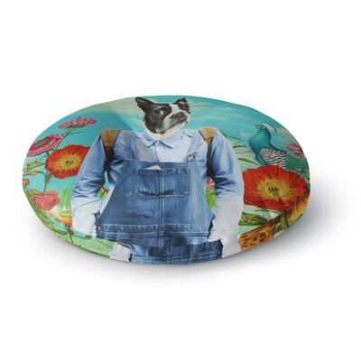 Natt Family Portrait N3 Dog Round Floor Pillow Size: 26 x 26