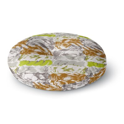 Fernanda Sternieri Nice Knot Round Floor Pillow Size: 26 x 26, Color: Gray/Orange