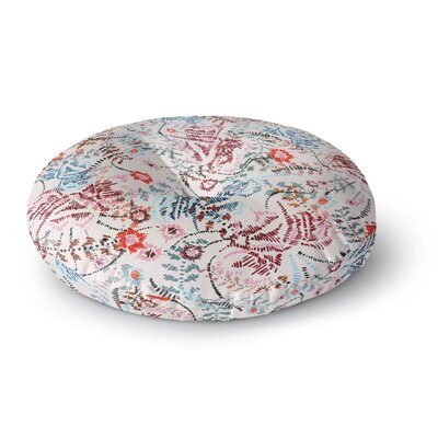 Fernanda Sternieri African Romance Round Floor Pillow Size: 26 x 26, Color: Red/Beige