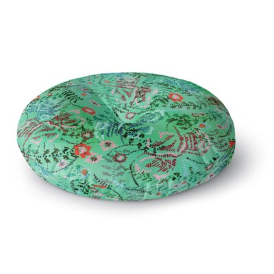 Fernanda Sternieri African Romance Round Floor Pillow Size: 23 x 23, Color: Green