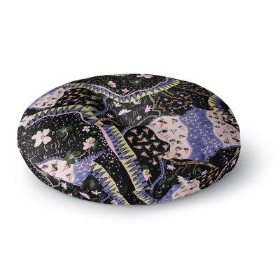 Fernanda Sternieri Oriental Patchwork Pattern Round Floor Pillow Size: 23 x 23