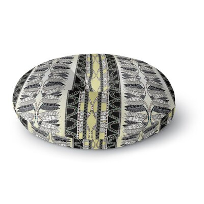 Fernanda Sternieri Oriental Stripes Digital Round Floor Pillow Size: 26 x 26