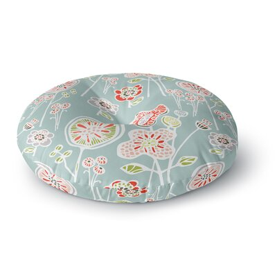 Gill Eggleston Folky Floral Light Jade Round Floor Pillow Size: 23
