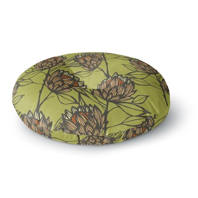 Gill Eggleston Protea Olive Round Floor Pillow Size: 23 x 23